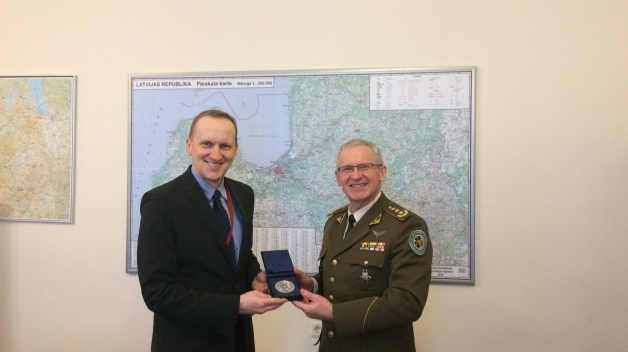 Director of the NATO ENSEC COE visited Ministry of Defence of Latvia