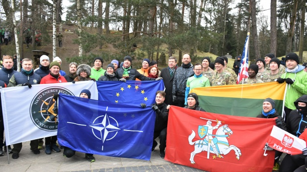 NATO ENSEC COE participated in a running event to commemorate the 13th of January 1991 victims