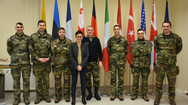 The delegation of French cadets visit the NATO Energy Security Centre of Excellence