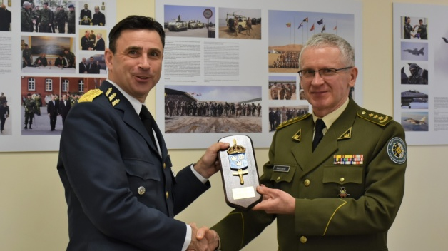 The Chief of Defence Staff of the Swedish Armed Forces visits the NATO Energy Security Centre of...