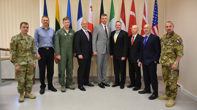 Fellows form the George C. Marshall European Center for Security Studies visited the NATO ENSEC COE