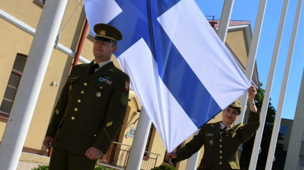 Finland Flag Raising Ceremony - NATO ENSEC COE has a new Contributing Partner