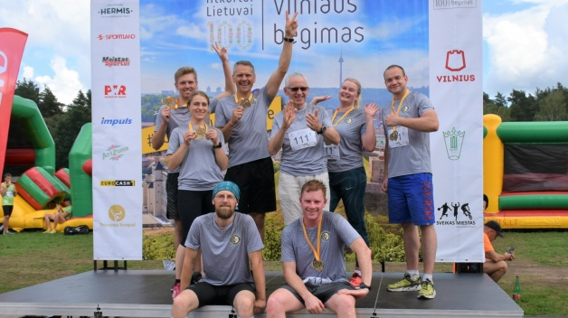 The NATO ENSEC COE team participated in the Vilnius 100 km running event