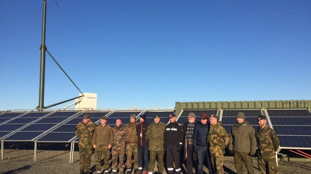 NATO ENSEC COE representatives in TRIDENT JUNCTURE 2018 Exercise - presenting Energy Efficiency...