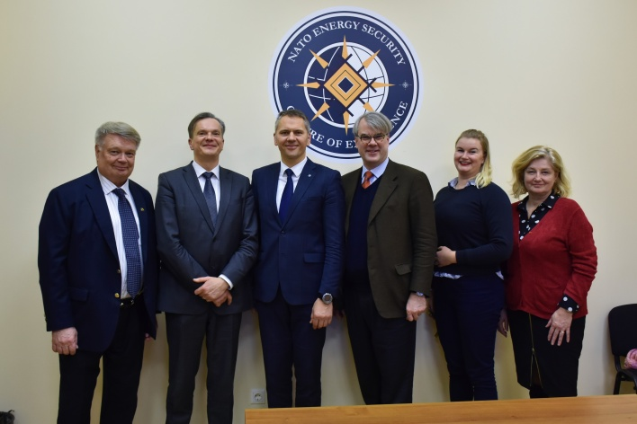 NATO ENSEC COE visited by Swedish Hybrid Ambassador Fredrik Löjdquist