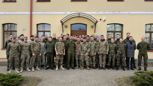 Participants of the International Cadet Week visit NATO ENSEC COE