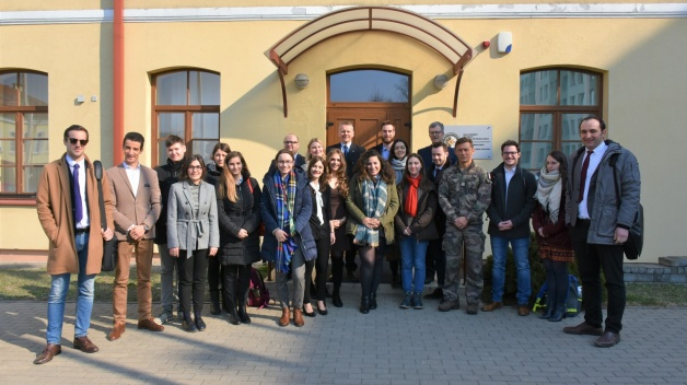Students and Academics from the College of Europe visited NATO ENSEC COE
