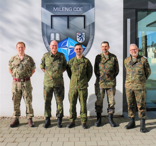 NATO ENSEC COE high ranking delegation welcomed at the MILENG COE