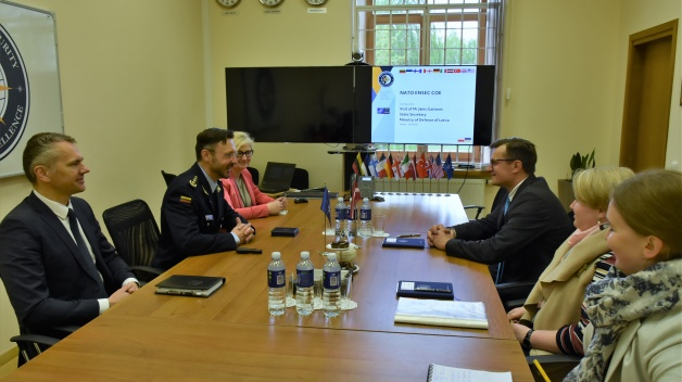 State Secretary of the Ministry of Defence of the Republic of Latvia visited NATO ENSEC COE