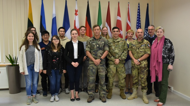 Exchange students from Vilnius University's Institute of International Relations and Political...