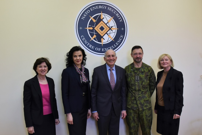 Representatives from the Baltic American Freedom Foundation visited NATO ENSEC COE