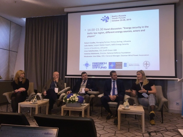 NATO ENSEC COE Subject Matter Expert discussed energy security challenges in Baltic-Russia Youth...